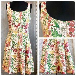 Vintage Floral Print Swing style dress 10